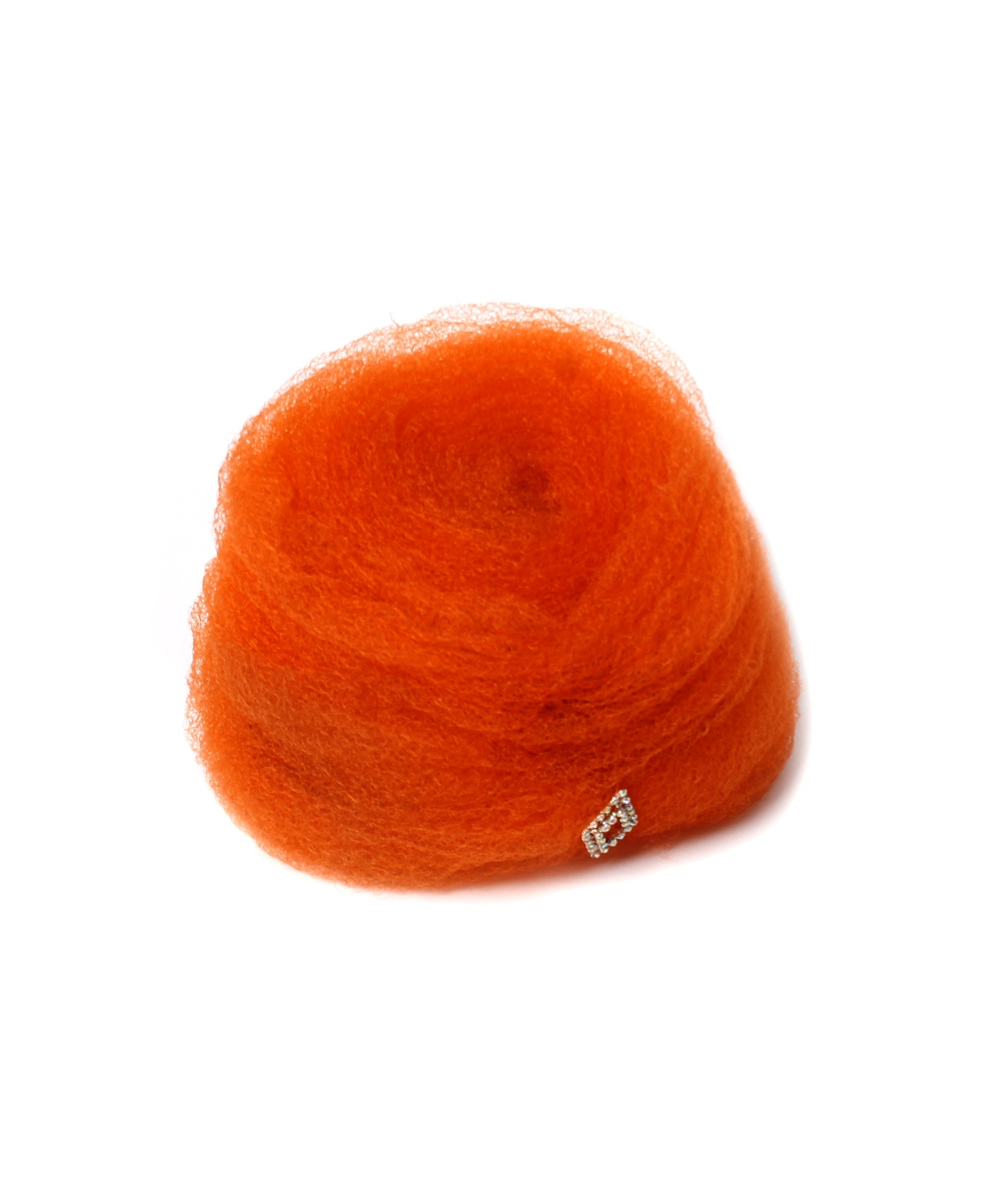 Christian Dior Orange Tulle Beehive Hat