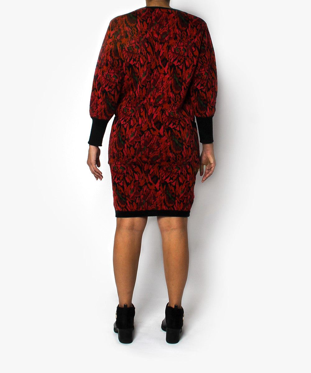 Saint Laurent 1980s Abstract Sweater Dress - C.Madeleine's