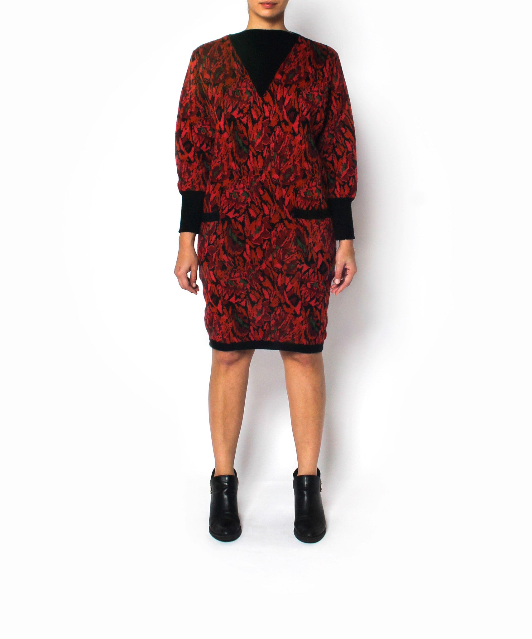 Saint Laurent 1980s Abstract Sweater Dress
