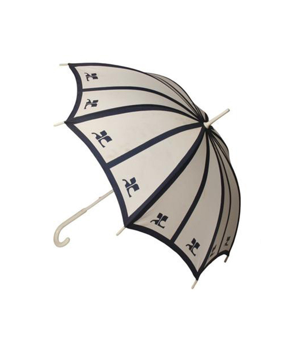 Courreges Blue Logo Umbrella