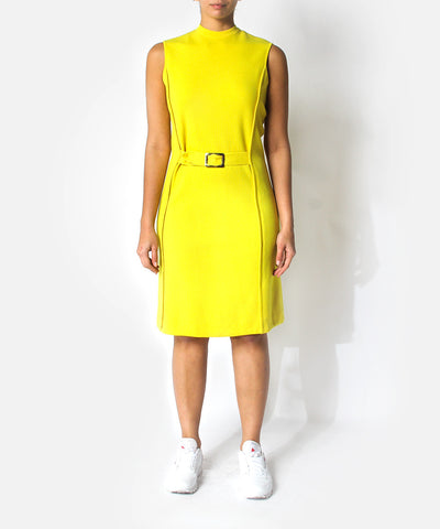 1960s Bright Yellow Mod Dress