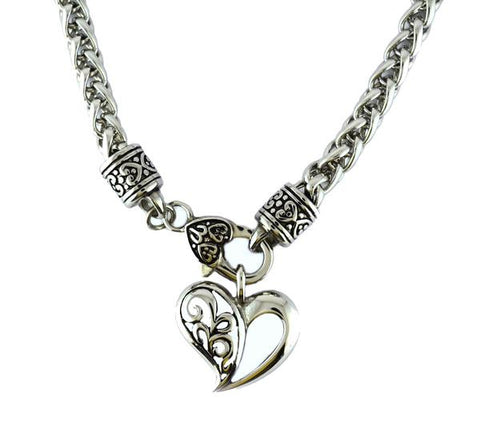 Ladies heart pendant - Unleashed Jewelry