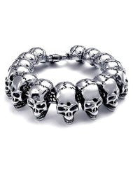 3D Skull Face bracelet - Unleashed Jewelry
