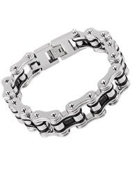 Stainless Steel Bike Chain 3/4 Stainless and Black