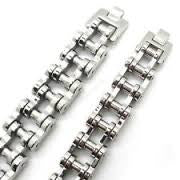 Stainless Steel Bike Chain 3/4 Solid - Unleashed Jewelry