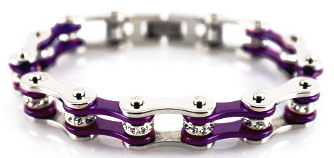 Bling Bike Chain-Dark Purple - Unleashed Jewelry