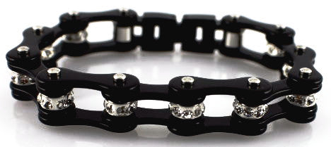 Bling Bike Chain-Black - Unleashed Jewelry