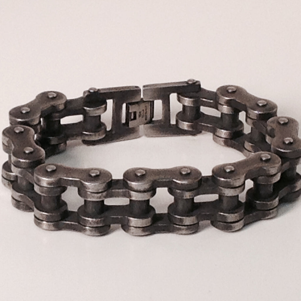 Stainless Steel Bike Chain Antique 3/4 - Unleashed Jewelry