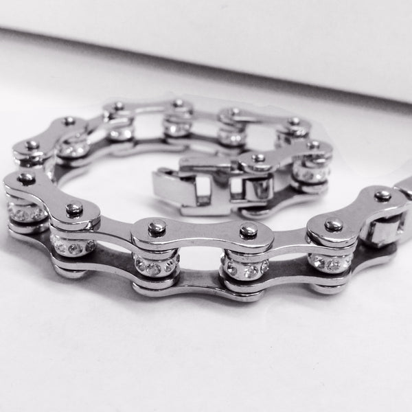 Bling Bike Chain Stainless Steel - Unleashed Jewelry