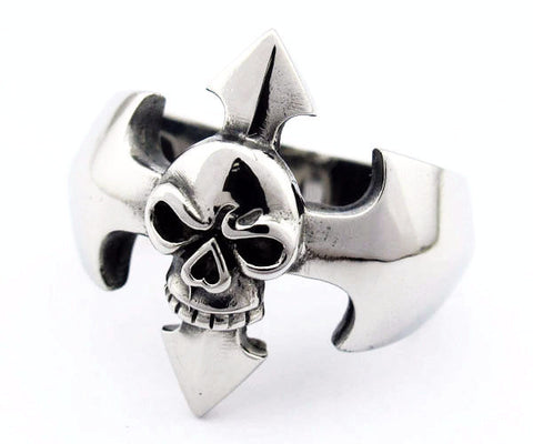 Crossroads Skull Ring - Unleashed Jewelry