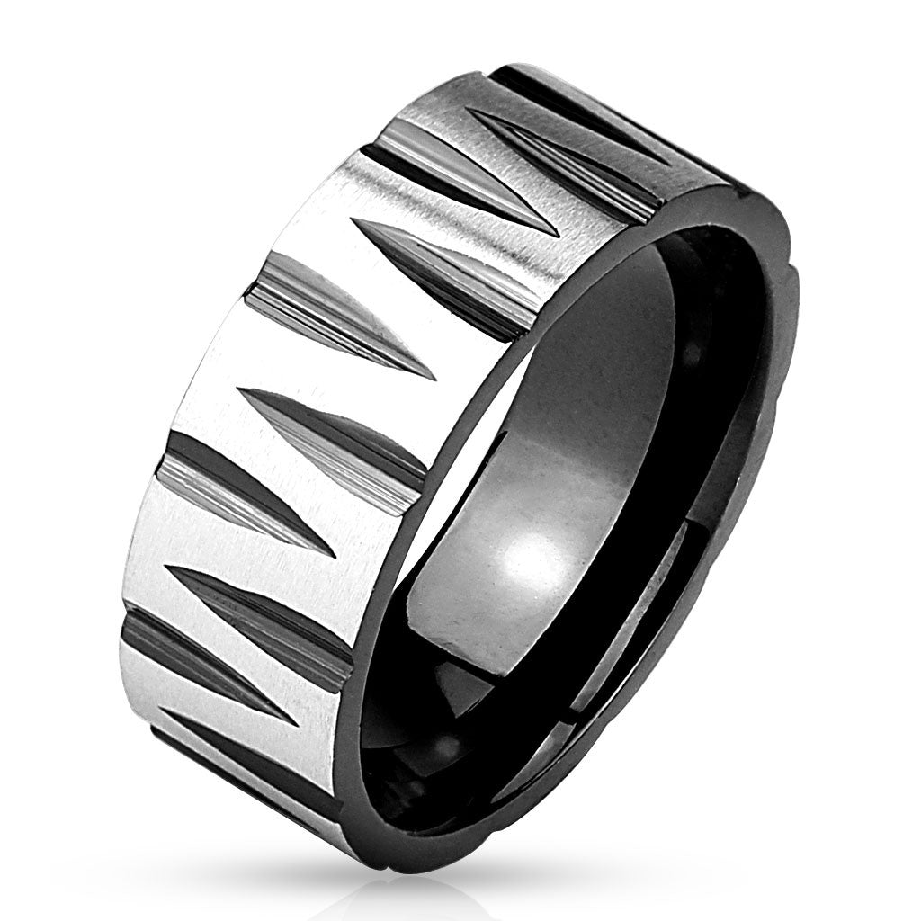 Stainless Steel Band Ring-RM2969 - Unleashed Jewelry