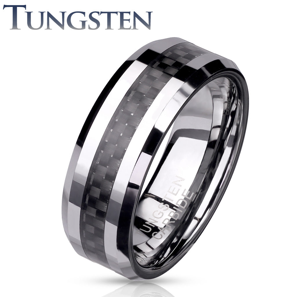 Tungsten Ring Carbon Fiber - Unleashed Jewelry