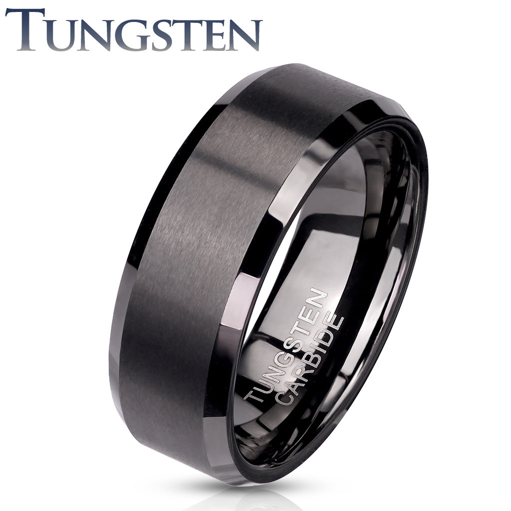 Tungsten Ring Matte Black - Unleashed Jewelry