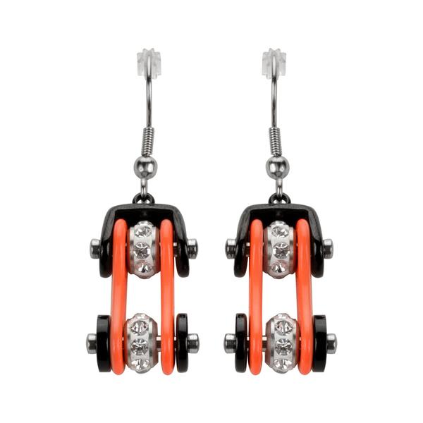 Bike Chain earrings- Many colors! - Unleashed Jewelry