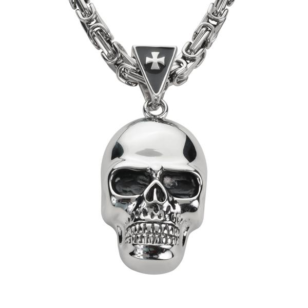 Full face skull with chain