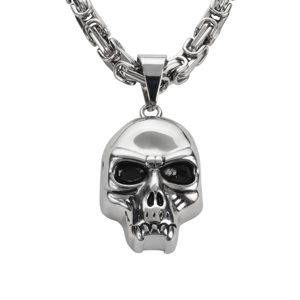 Fang skull with chain