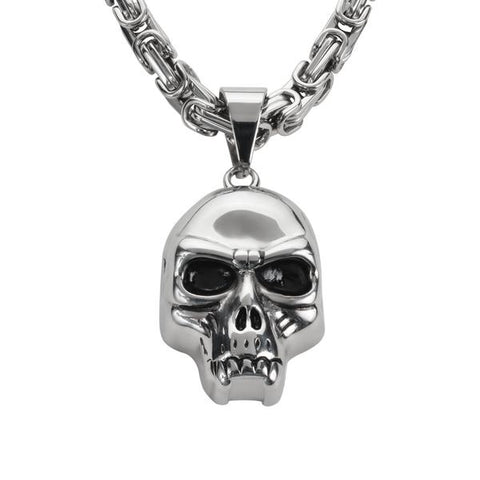 Fang skull with chain - Unleashed Jewelry