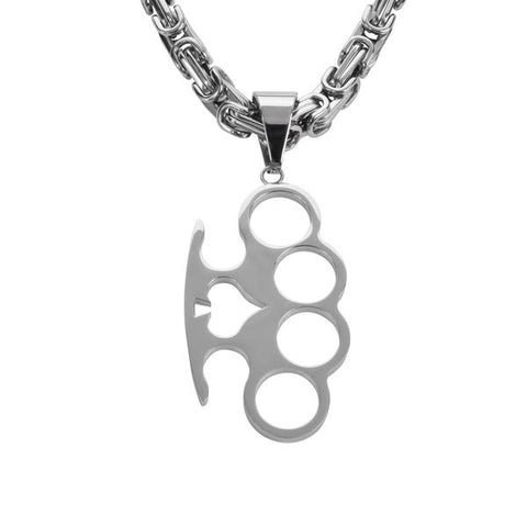 Knuckle Pendant with chain - Unleashed Jewelry