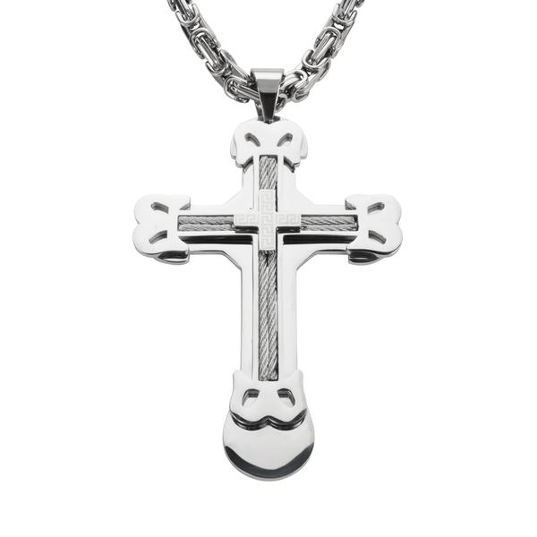 Triple Layer Cross with Wire - Unleashed Jewelry