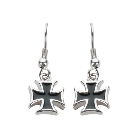 Iron Cross Earrings- Dangling