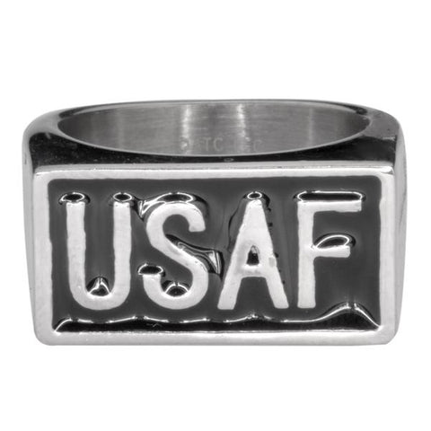 USAF Stainless Steel Ring - Unleashed Jewelry