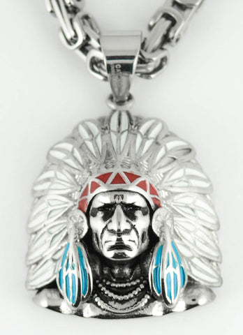 Indian Chief Head - Unleashed Jewelry