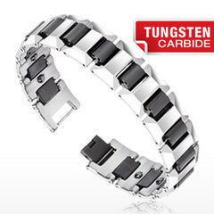 Tungsten Bracelet De Niro Black - Unleashed Jewelry