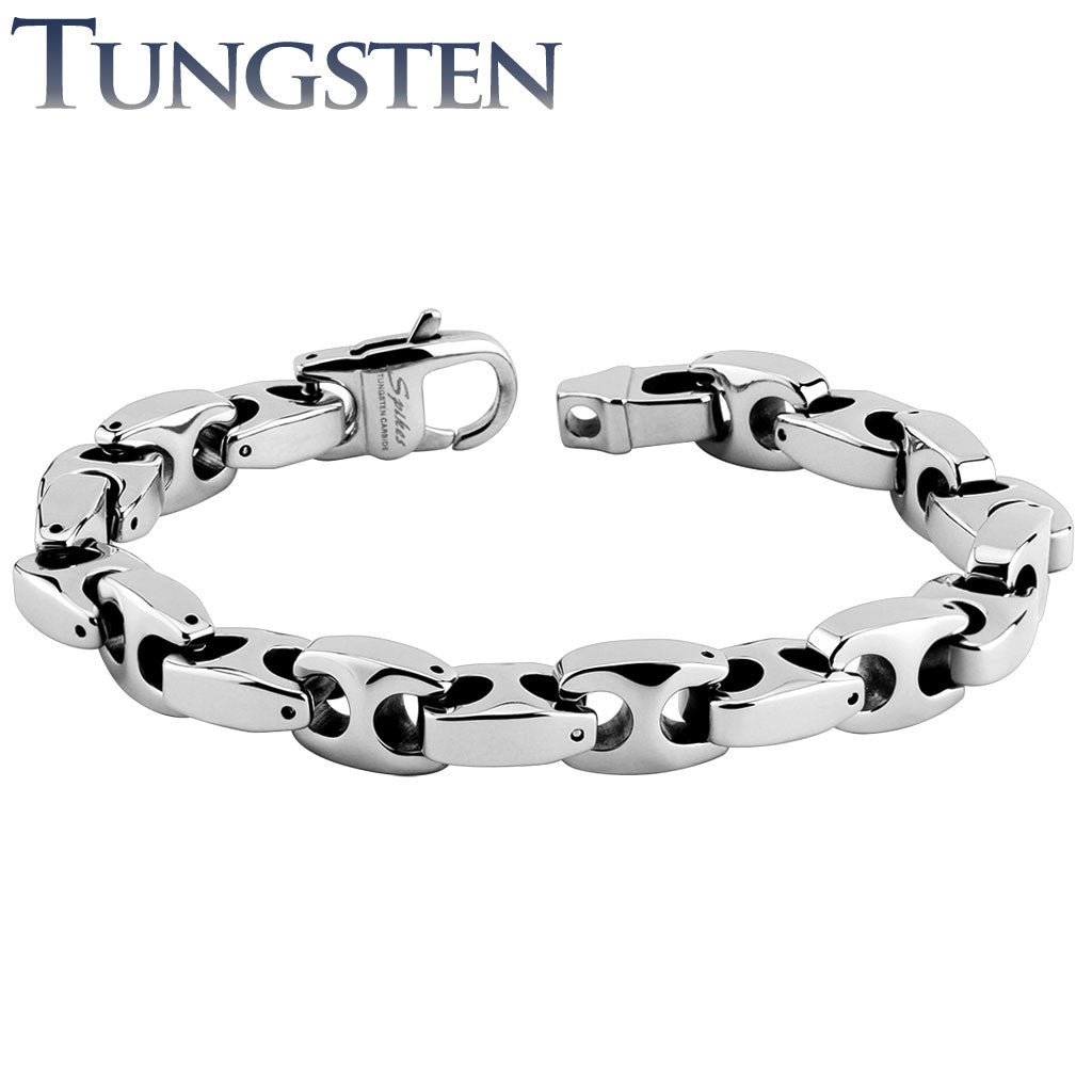 tungsten bijouxstore bracelets men chain link bracelet en polish s carbide