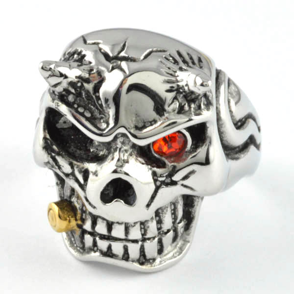 Bullet smoking devil - Unleashed Jewelry