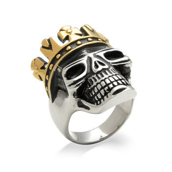 King Skull With Gold Crown