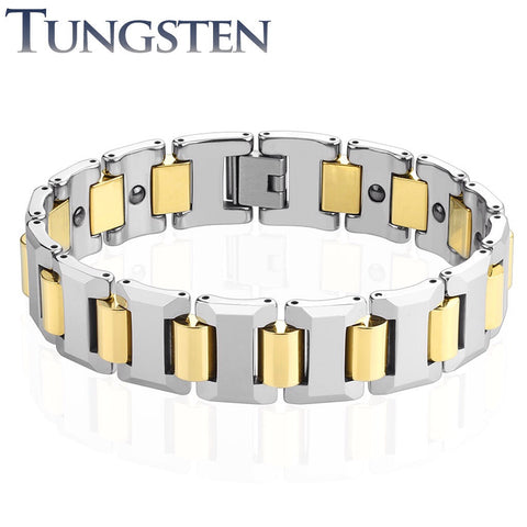 Tungsten De Niro Bracelet- Gold - Unleashed Jewelry