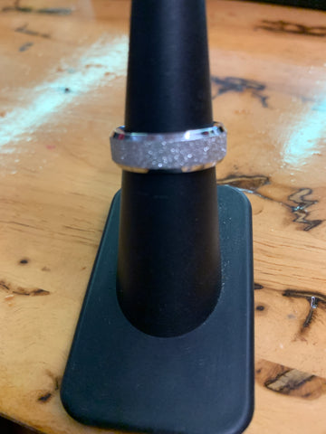 Sandy Shiny Silver Stainless Steel Ring - Unleashed Jewelry