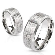Lords Prayer Ring- Stainless - Unleashed Jewelry