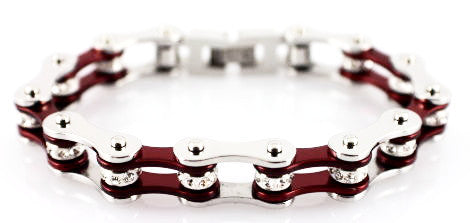 Bling Bike Chain- Candy Red - Unleashed Jewelry