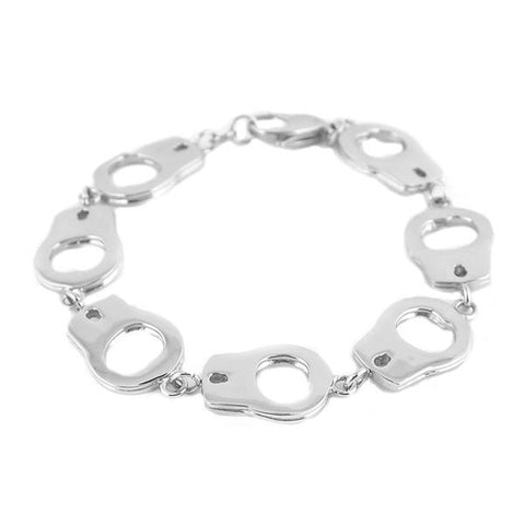 Large handcuff stainless steel bracelet - Unleashed Jewelry