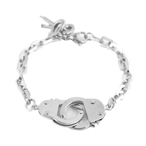 Handcuff and keys stainless steel bracelet