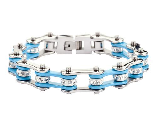 Bling Bike Chain Turquoise Teal