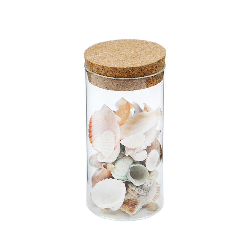Homyl Clear Glass Canister Snack Sugar Treat Tea Storage Jar W/ Cork Kitchen Decor