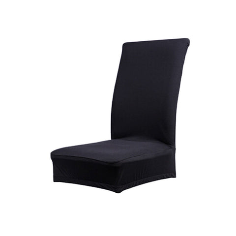 Homyl Solid Color Soft Polyester Spandex Dining Stool Chair Cover Slipcover Black