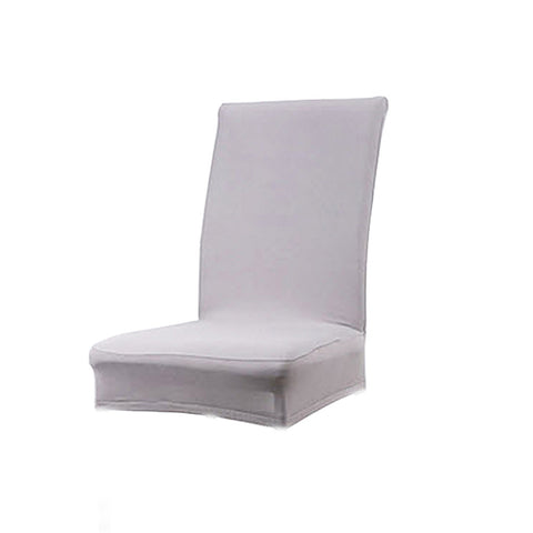 Homyl Solid Color Polyester Spandex Dining Stool Chair Cover Slipcover Light Gray