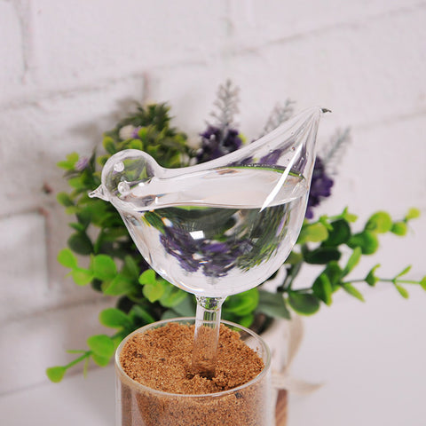 Homyl Automatic Glass Bird Shape Simple Watering Device Plant for Garden Flower