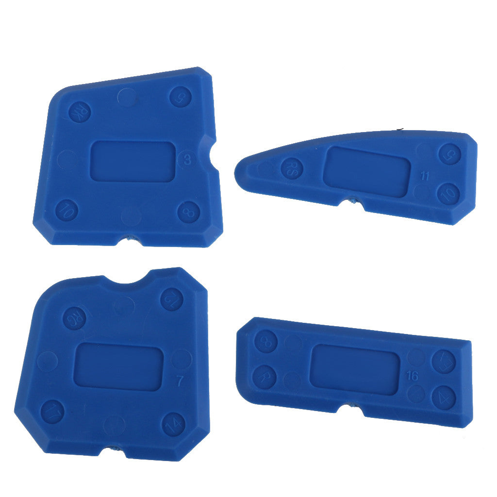 Homyl Caulking Tool Kit Joint Sealant Silicone Grout Remover Scraper 4PCS Blue