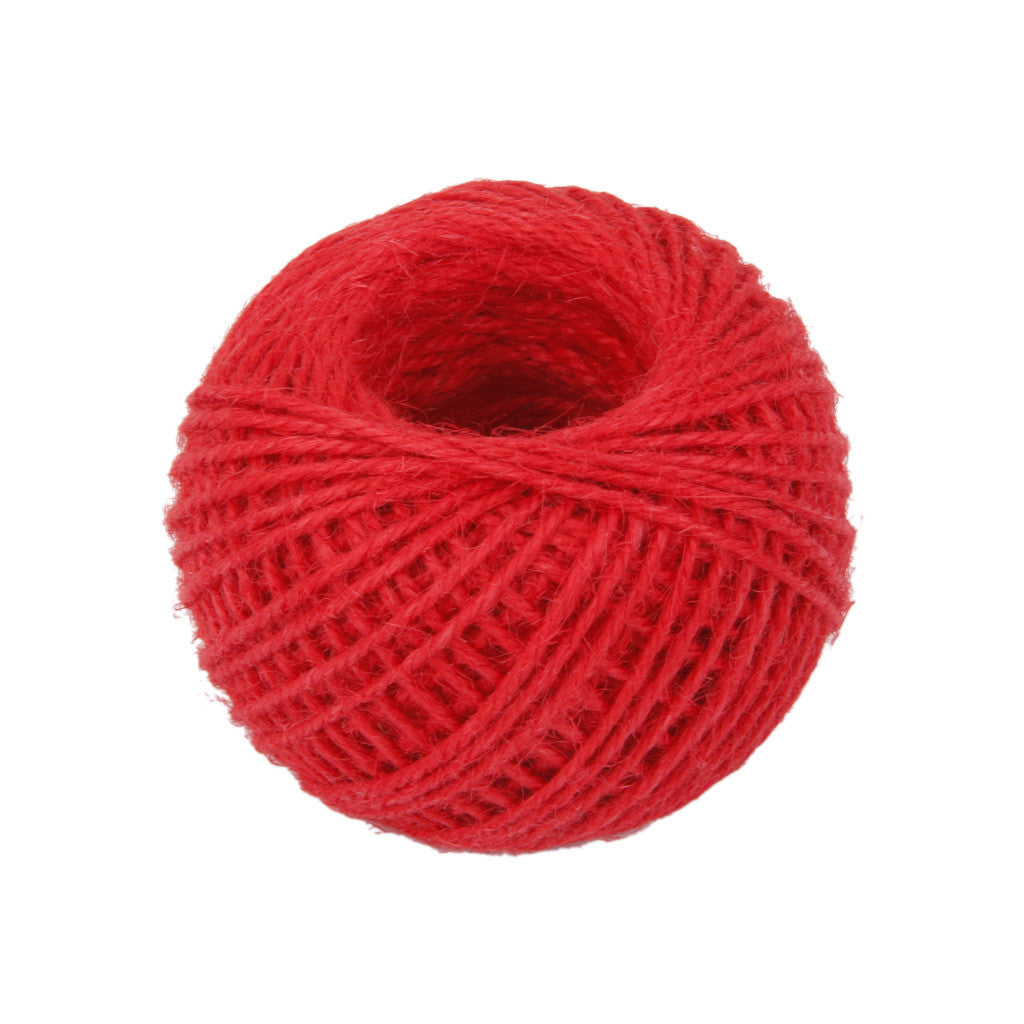 Homyl 50M Wrap Gift Hemp Rope Ribbon Twine Rope Cord String Ball Red