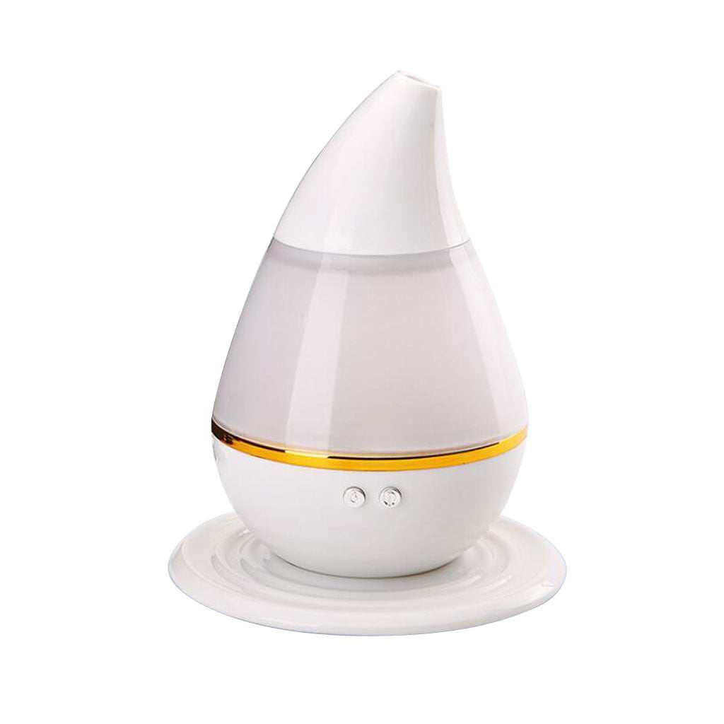 Homyl 250ml Colorful LED Water-drop Shape Humidifier Aromatherapy Diffuser White