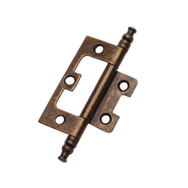 Homyl Antique Bronze Flush Hinge with Finial