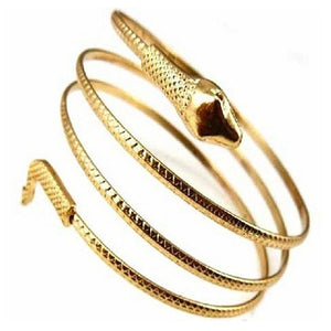 Coiled Snake Spiral Upper Arm Cuff Armlet - Cultured Lady