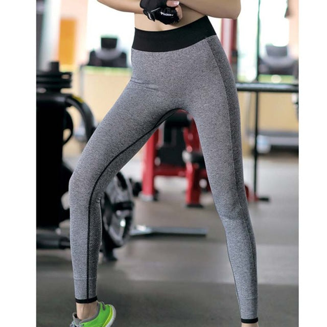 Yoga Pants Sports Running Breathable Printing Elastic Slim Tight - Cultured Lady