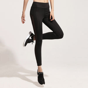 Women High Waist Sexy Mesh Elasticity Black Skinny Pencil Pants Outwear Female Fitness Leggings - Cultured Lady