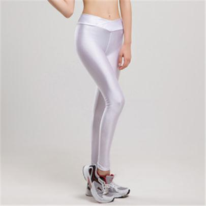 63ba735380ee40 Neon High Waist Candy Colors Elastic Stretched Shiny Sportswear Workout  Leggings