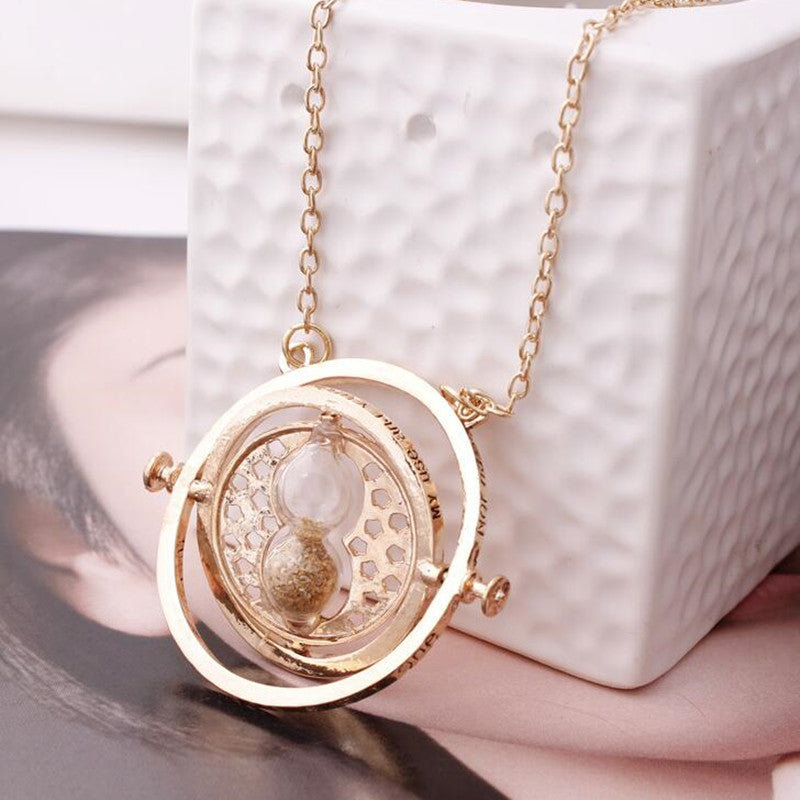 Time turner hourglass pendant necklace cultured lady mozeypictures Image collections